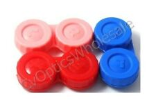 3x Contact Lens Soaking Storage Case Red/Pink/Blue