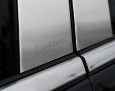 For: BUICK ENCLAVE; Pillar Post Moldings BRUSHED Stainless ENGRAVED! 2008-2016