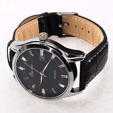 Quartz analogique alarme Affichage de la date bracelet en cuir Montre homme A