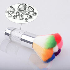Nail Art Dust Remover Brush Cleaner For Acrylic & UV Nail Gel Powder Colorful #w