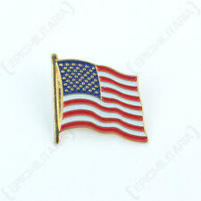 American STARS AND STRIPES Pin Badge - New Enameled Metal US Flag Repro Insignia