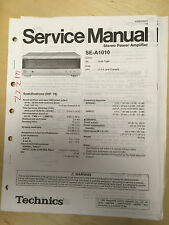 Original Technics Service Manual for the SE-A1010 Power Amplifier Amp     mp