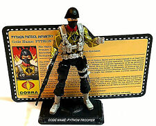 2011 MISSION BRASIL GI JOE CONVENTION JOECON PYTHON PATROL TROOPER 100% COMPLETE