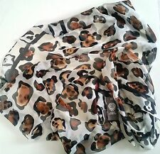 VINCE CAMUTO LEOPARD PRINT SILK SCARF - NEW, PERFECT PRESENT!