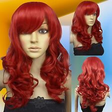 Thicken 50cm Dark Red Heat Styleable Curly Cosplay Wigs 00_1