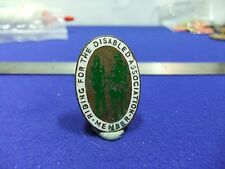 vtg badge horse riding for the disabled association member 1960s charity