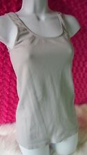 Women's Last Tango Tank Top Girls Gray M/L Fashion Ribbed Made In Usa