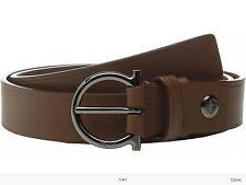 Salvatore Ferragamo adjustable Belt 679372 Cuoio Size 32 Mens Gancio Bit Buckle