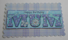 PK 2 BUTTERFLY MUM EMBELLISHMENT TOPPERS FOR CARDS/CRAFTS