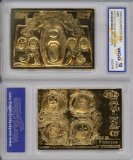 *KISS PSYCO-CIRCUS ALBUM GOLD *extremely rare*Genuine 23 KT GOLD CARD gem mint10