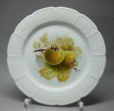 Nymphenburg Obst Teller, mit Früchten bemalt, Osier Relief -