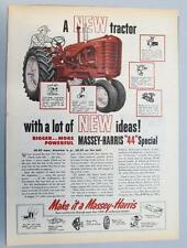 Original 1954 Massey Harris 44 Special Tractor Ad BIGGER MORE POWERFUL ..& IDEAS