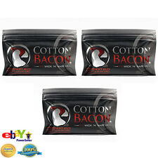 COTTON BACON V2.0 BY WICK N VAPE!! ORGANIC COTTON 3PACK