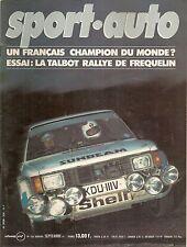 SPORT AUTO 236 1981 GP ALLEMAGNE GP AUTRICHE RALLYE CODASUR BRESIL GORDON MURRAY