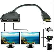 1080P HDMI 1 Male To Dual HDMI 2 Female Y Splitter Cable Adapter for HDTV LCD TV