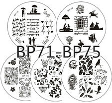 5Pcs/set BORN PRETTY Nail Art Stamping Plates Image Stamp Template BP71-75