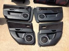 07-09 MAZDA SPEED 3 OEM Complete set INTERIOR DOOR PANELS Black SUEDE ALCANTRA