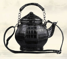 Fashion Amliya Chinese Unique Teapot Tea Kettle Shape Handbag Women Purse Bag