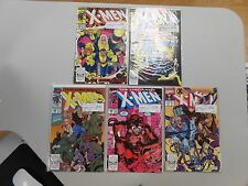 X-Men comic lot of 5! #'s254,255,259,260 and 271! All VF8.0+ Copper age Marvel!