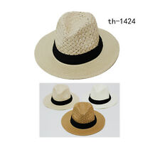 wholesale 12pcs assorted color unisex   fasion beach straw hat 1 size fit all