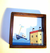Shoeless Joe Harbour Front Picture Nautical Themed Seaside Home Accessory Decor