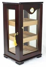 Glass Display Cabinet Cigar Humidor Fits 200 Cigars Mahogany - Display 5