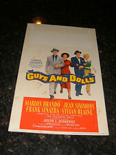 "GUYS AND DOLLS Original 1955 Window Card, 14"" x 22"", C6.5 Fine Plus Condition"