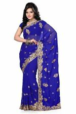AlviraFab Bollywood Designer Embroidered Sari_AF1004