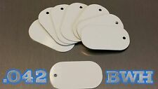 .042 *SUPER THICK* White Aluminum Dye Sublimation Dog Tag Blanks - Lot of 100 pc