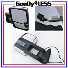 88-98 Chevy GMC C/K Towing POWER CHROME Mirrors W/Smoke LED Signals