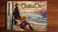 Tactics Ogre Knight of the Lodis - Game Boy Advance GBA Instruction Manual ONLY