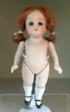 """An Antique All Bisque 5"""" Kestner Jnr Doll with brown sleeping glass eyes"""