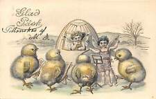 Glad Pask! Easter, Humanized Chicken Babies Egg, Pixie Angels Music 1905