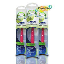 3x Dentek Tongue Cleaner Scraper Mint Fresh Tool Remove Bad Breath Bacteria