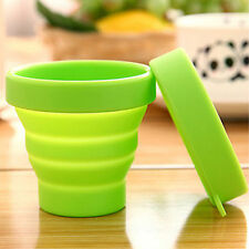 New Travel Portable Folding Telescopic Silicone Collapsible Drinking Camping Cup