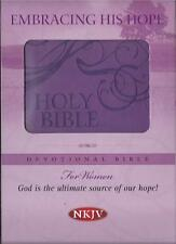 NEW - Embracing His Hope Devotional Bible-NKJV-For Women