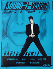 "David Bowie Dodger Stadium 16"" x 12"" Photo Repro Concert Poster"