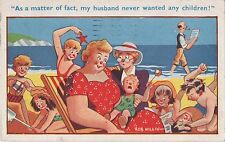 POSTCARD  COMIC  Seaside and Children  ...  As a matter of fact...