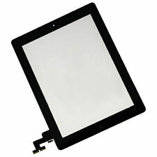 Black Touch Glass Digitizer + Home Button + Adhesive + Camera Bracket for iPad 2