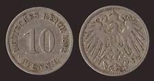 GERMANIA GERMANY 10 PFENNIG 1892 A