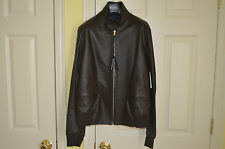 NWT PAUL SMITH Mainline Brown Slim Fit Leather Jacket L Italy  $2950