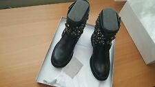 Jimmy Choo NIB $1750 youth short moto leather crystal biker boots EU 38.5 US 8