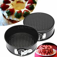 "7"" Inch Non-stick Coated Round Cake Pan Tray Tin Bakeware Loose Bottom Base Mold"