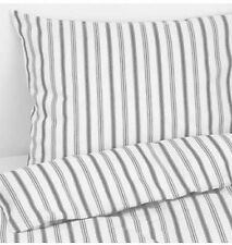 Ikea Hostoga Double Duvet Set, 200 x 200 cm, Striped Grey, 4 Pillowcases, BNWT