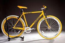 Caraci Fixed Gear Bike Bicycle F2 Steel Yellow