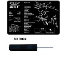 Glock Armorers Gun Cleaning Bench Mat & Ghost Glock Tool Combo Kit