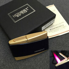 Honest Red Flame Windproof Refillable Butane Cigar Cigarette Lighter with Box