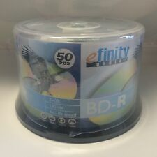 50 efinity 6x-10x Speed Logo Top Blu-Ray BD-R Blank Disc 25GB