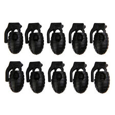 10 PCS Buckle Non-slip Shoelace Hunting Stopper Rope Clip Clamp Cord Lock UK16