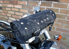 MOTORCYCLE LEATHER LARGE TOOL ROLL SADDLE BAG HARLEY DAVIDSON SPORTSTER SOFTAIL